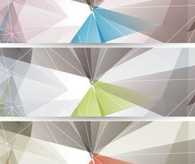 Color Abstract Banners vector design