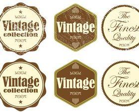Free Vintage Grunge Stickers vector