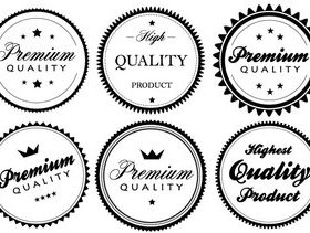 Premium Quality Labels and Stickers vectors