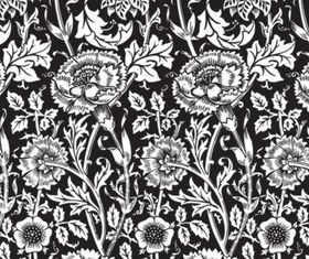 Black Flower Background vectors graphic