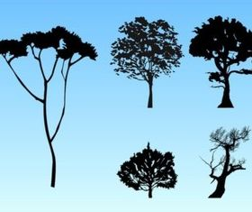 Forest Silhouettes vector set