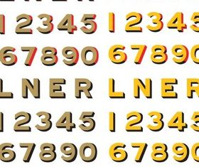 LNER Old Style Typeface vectors graphics