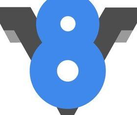 Google V8 Logo vector graphics