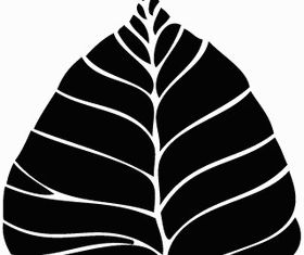 Free Bodhi Leaf Art vector