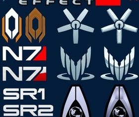Mass Effect Logo Free vector