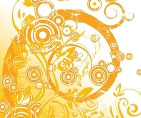 Floral Circle Graphics vectors graphics