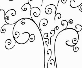 Curly Tree Clip Art Free vector