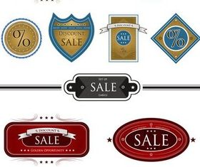 Color Vintage Sale Labels Art vector