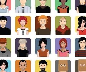 People Shiny Icons vector set