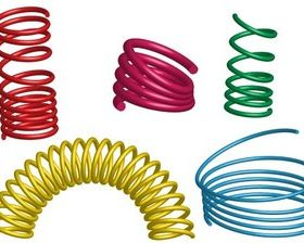 Free 3D Coil Springs Illustrator vector