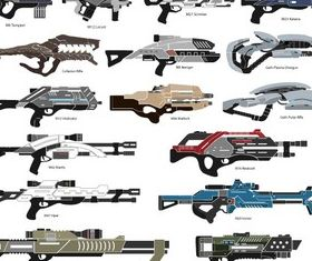Mass Effect Weapons Pack vector