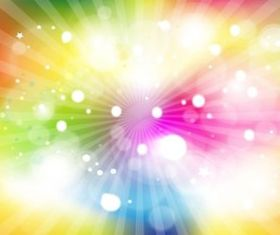 Rainbow Light Burst design vector