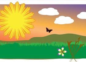 Sunny Field Clip Art vectors
