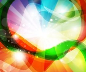 Rainbow Swirls vector
