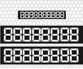 Number Screen vector
