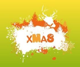 Graffiti Xmas background set vector