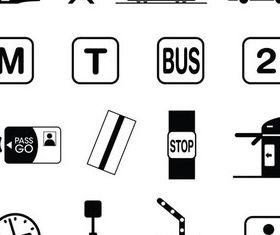 Transport Symbols Art vector