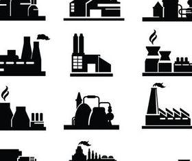 Plants and Factories set vector
