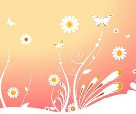 Tender Flowers background vector