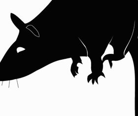 Rat Silhouette Free vector graphic