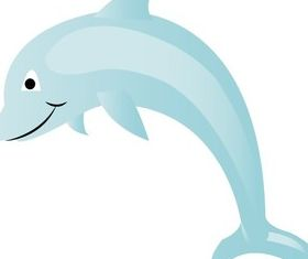 Free Dolphin Cartoon Art vector