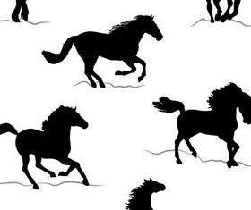 Free Horse Silhouettes Images vector