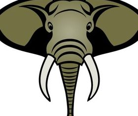 Free Elephant Head Image vector design