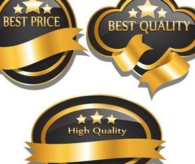 Quality Luxury Labels Art vector