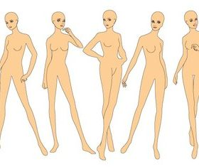 Fashion Drawing Base Templates design vectors
