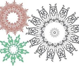 Ornaments Free vector set