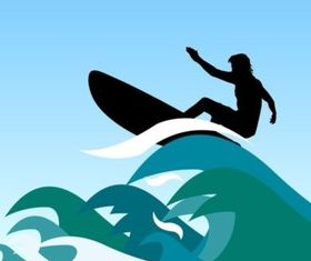 Surfer Waves vectors material
