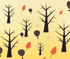 Cute Autumn vector graphics