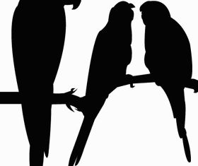 Free Parrot Silhouettes vector