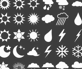 30 Weather Forecast Icons Free vector