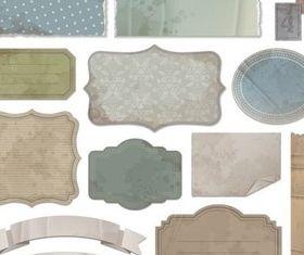 Retro Paper Labels design vector