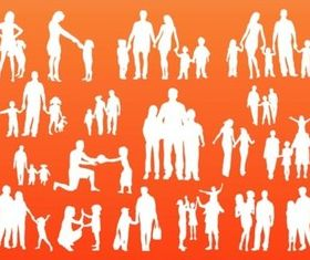 Family Silhouettes creative vector