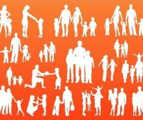 Family Silhouettes creative vector