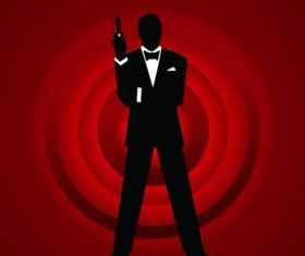 Agent 007 creative vector