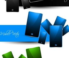 Banners with Smartphones vector