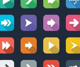 Flat Arrow Icons vectors material