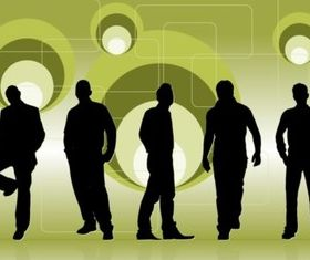 Club People Silhouettes vector graphic
