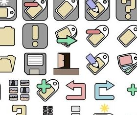 Free Icon Set 1 vector material
