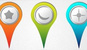 Location Mark Free set vector