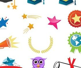 Graduation Icons Free vector