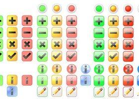 Basic Icons Free Set vectors graphic