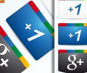 Free Google Plus Icon vector