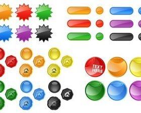 Glossy Buttons Free vector