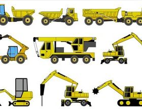 Free Construction Machines Illustrator Pack 2 vector