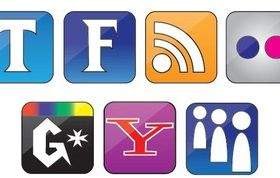 Free Set Social Icons vector