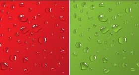 Free Water Drops Background Vector Illustration